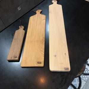 Planches de présentation en chêne en chêne